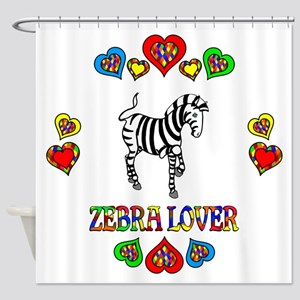 Zebra Lover Shower Curtain