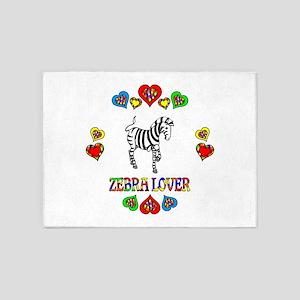 Zebra Lover 5'x7'Area Rug