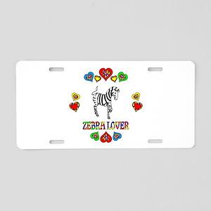 Zebra Lover Aluminum License Plate