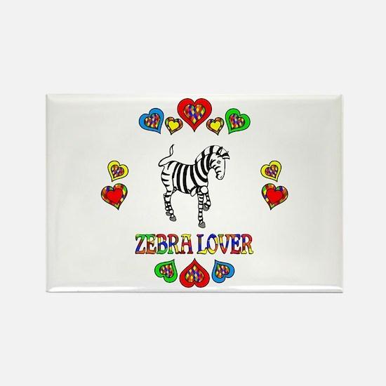 Zebra Lover Rectangle Magnet
