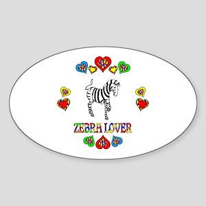 Zebra Lover Sticker (Oval)