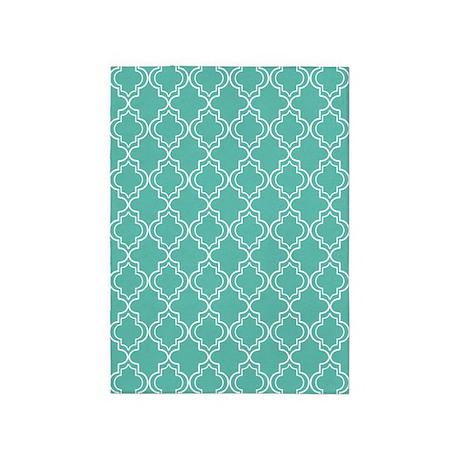 medium teal moroccan quatrefoil 5 39 x7 39 area rug by hhtrendyhome. Black Bedroom Furniture Sets. Home Design Ideas