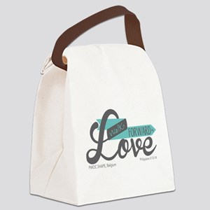 Walk Forward In Love Canvas Lunch Bag