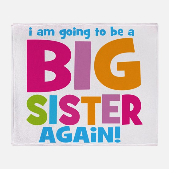 Big Sister Again Throw Blanket
