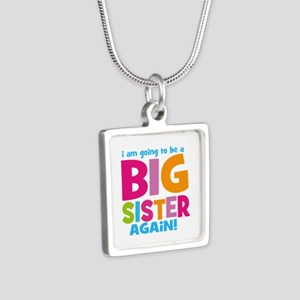 Big Sister Again Silver Square Necklace