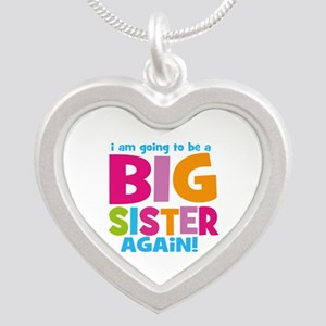 Big Sister Again Silver Heart Necklace