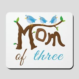 Mom Of Three (birds) Mousepad