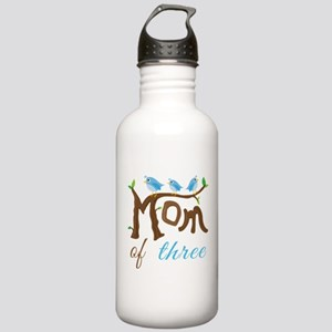 Mom Of Three (birds) Water Bottle