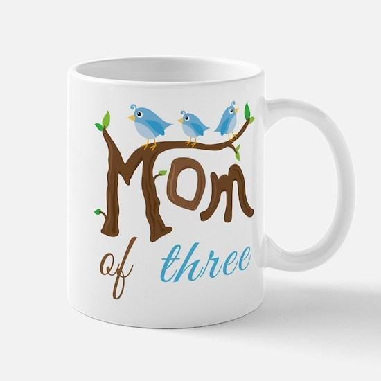 Mom Of Three (birds) Mug