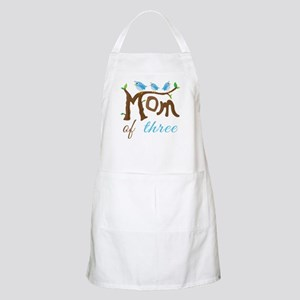 Mom Of Three (birds) Apron