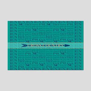 Cross Country Running Collage Blue Mini Poster Pri