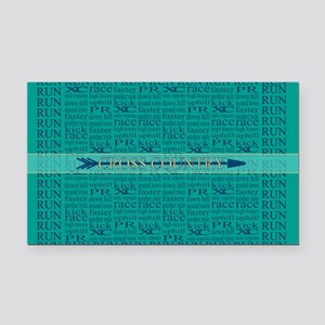Cross Country Running Collage Blue Rectangle Car M
