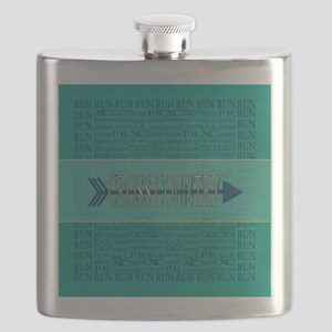 Cross Country Running Collage Blue Flask