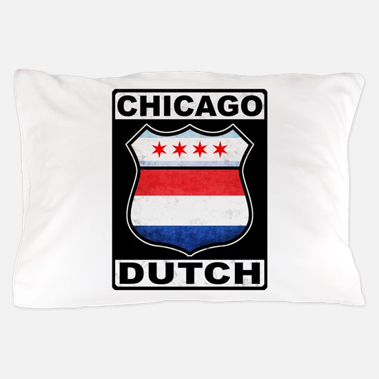 Chicago Dutch American Sign Pillow Case