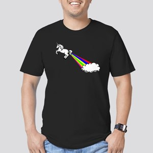 Unicorn Rainbow Fart Cloud Men's Fitted T-Shirt (d