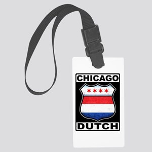 Chicago Dutch American Sign Luggage Tag