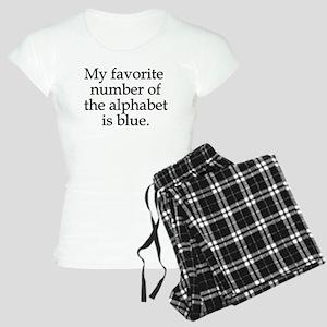 Favorite number alphabet blue Women's Light Pajama