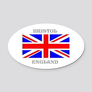 Bristol England Oval Car Magnet