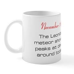 Mug: Leonids meteor shower peaks at dawn around to