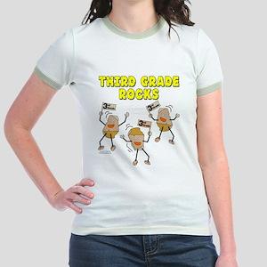 Third Grade Rocks Jr. Ringer T-Shirt