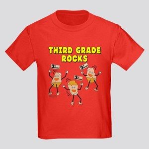Third Grade Rocks Kids Dark T-Shirt