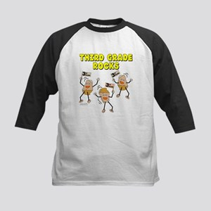 Third Grade Rocks Kids Baseball Jersey