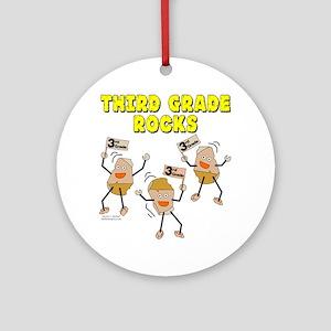Third Grade Rocks Ornament (Round)