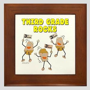 Third Grade Rocks Framed Tile