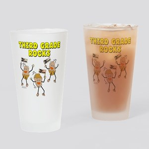Third Grade Rocks Drinking Glass