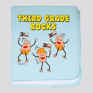 Third Grade Rocks baby blanket