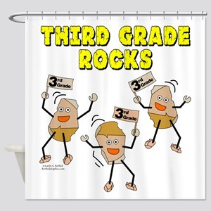 Third Grade Rocks Shower Curtain