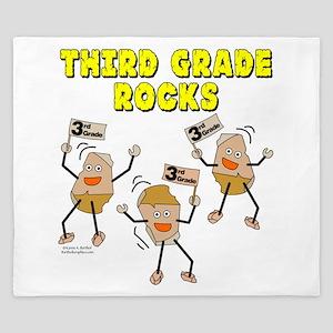 Third Grade Rocks King Duvet