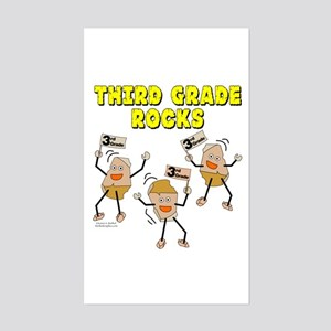 Third Grade Rocks Sticker (Rectangle)