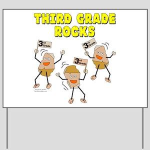 Third Grade Rocks Yard Sign