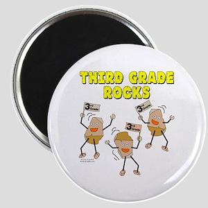 Third Grade Rocks Magnet