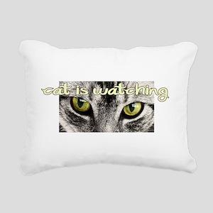 Cat Is Watching Rectangular Canvas Pillow
