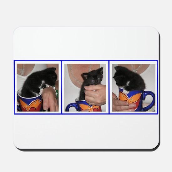 Coffee Cup Kitten Mousepad