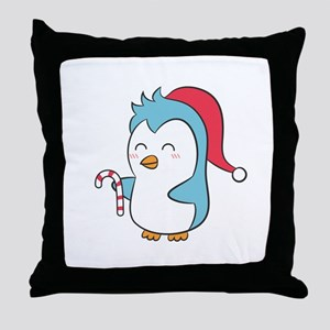 Cute and Happy Christmas Penguin with Candy Cane T
