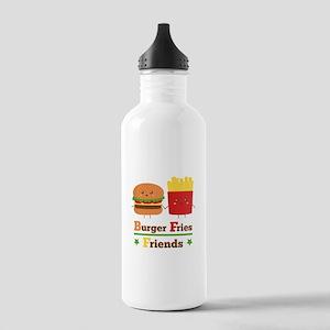 Kawaii Cartoon Burger Fries Friends BFF Sports Wat