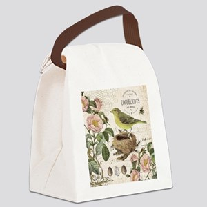 Modern vintage french bird and nest Canvas Lunch B