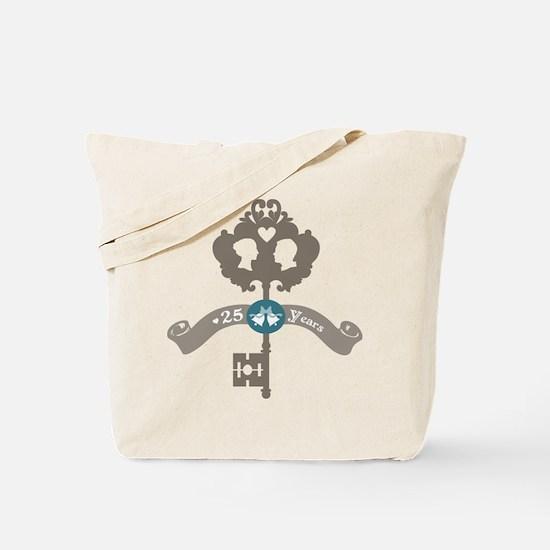 25th Anniversary vintage key Tote Bag