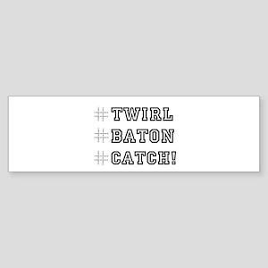 Hashtag Twirl Sticker (Bumper)