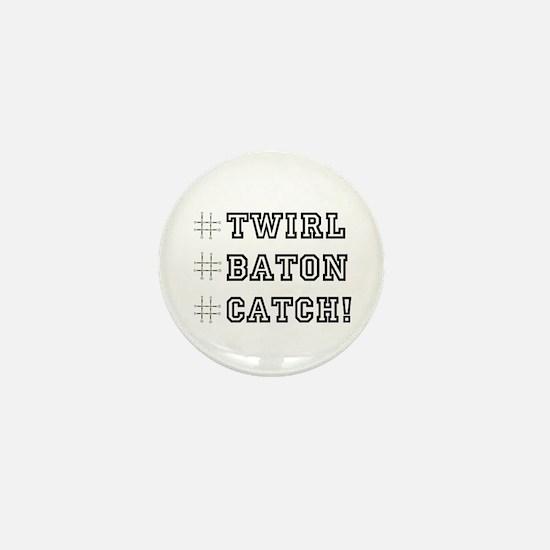 Hashtag Twirl Mini Button