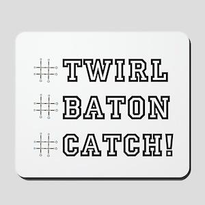 Hashtag Twirl Mousepad
