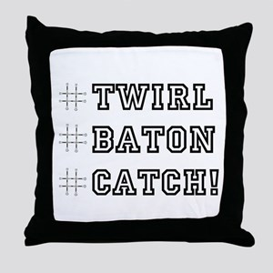 Hashtag Twirl Throw Pillow