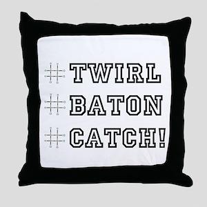 Hashtag Twirl Throw Pillow