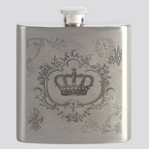 Vintage french shabby chic crown Flask