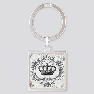 Vintage french shabby chic crown Keychains