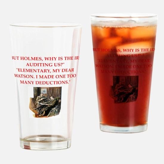sherlock holmes joke Drinking Glass