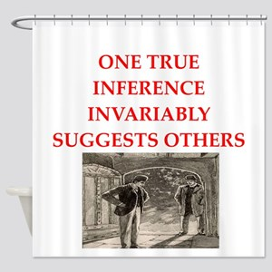 sherlock holmes quote Shower Curtain
